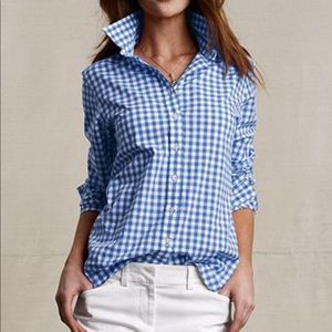 J.Crew perfect gingham button front sz 8